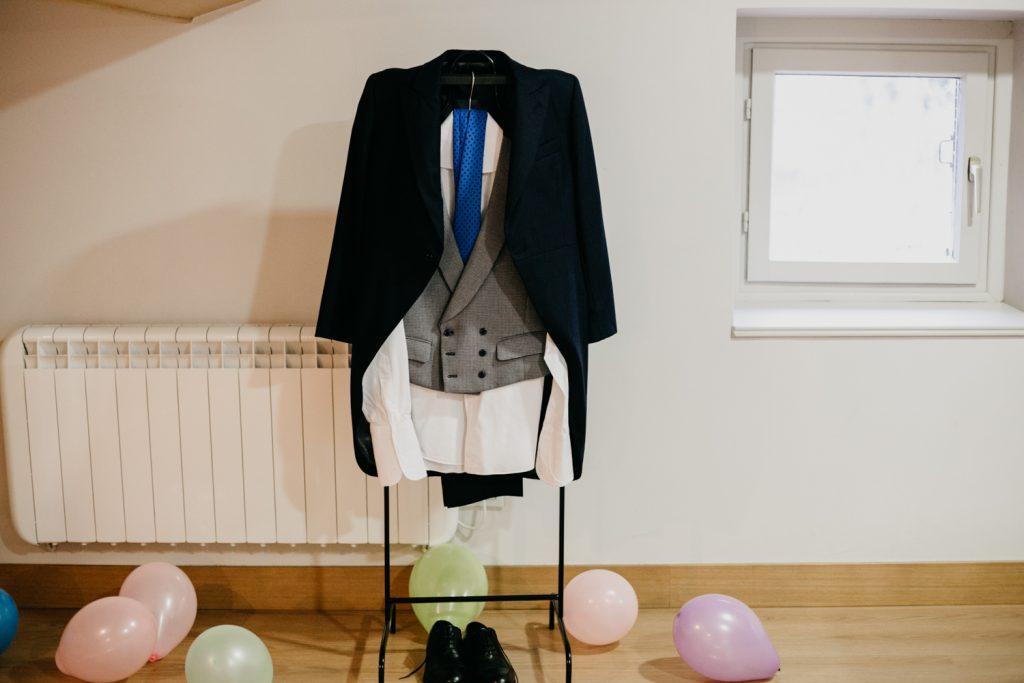 Preparativos de boda, el novio